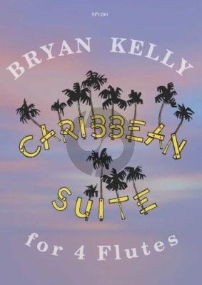 Kelly Caribbean Suite for Four Flutes (Score/Parts)