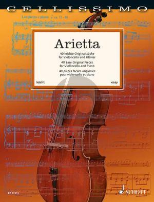 Arietta - 40 Easy Original Pieces Violoncello-Piano