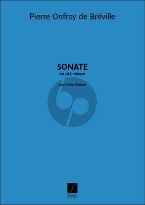 Breville Sonate en ut dièse mineur Violon-Piano