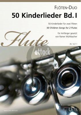 50 Kinderlieder Vol.1 2 Flöten (Rainer Mühlbacher)