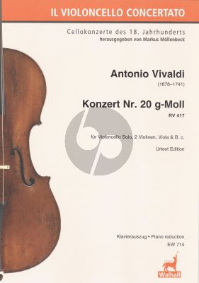 Vivaldi Concerto g-moll RV 417 Violoncello-Str.-Bc KA