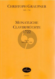 Graupner Monatliche Clavierfruchte 1722 Vol.2 April-Mai-Juni