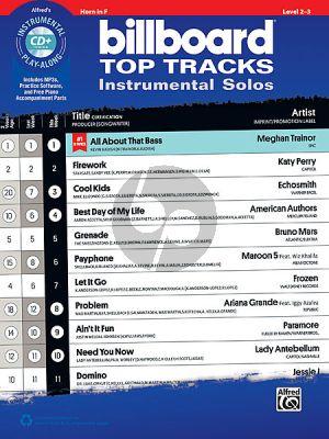 Billboard Top Tracks Instrumental Solos Horn[F] (Bk-Cd)