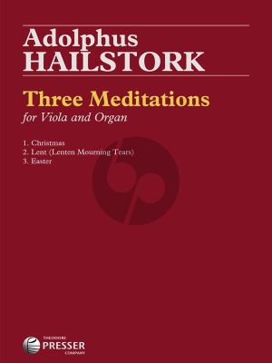 Hailstork Three Meditations Viola-Organ