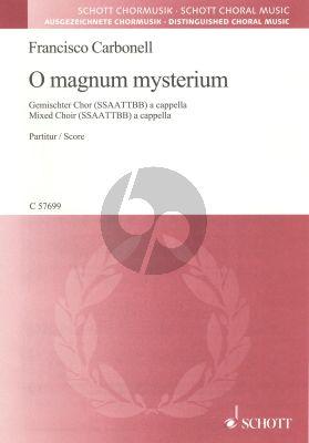 Carbonell O magnum mysterium SSAATTBB (lat.)