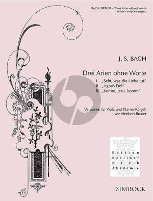 Bach Drei Arien ohne Worte Viola-Klavier(Orgel) (Heribert Breuer)