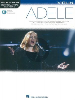 Adele Instrumental Play-Along Violin