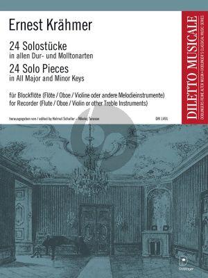 Krahmer 24 Solo-Stücke in allen Dur- und Molltonarten