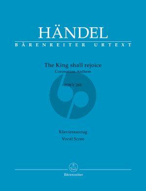 Handel The King shall rejoice HWV 260 (Coronation Anthem) SAATBB-Orch. Vocal Score