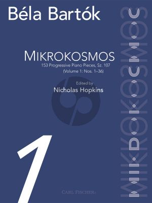 Bartok Mikrokosmos Vol.1 (No.1-36) Piano (edited by Nicolas Hopkins)