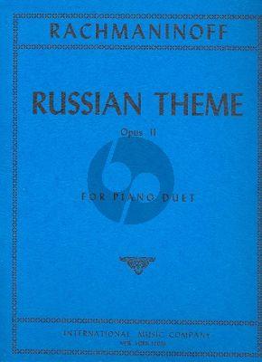 Rachmaninoff Russian Theme Op.11 No.3 Piano 4 Hds.