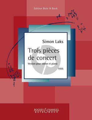 Laks 3 Pièces de Concert Violin-Piano