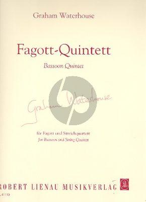 Waterhouse Quintett Fagott-2 Vi.-Va.-Vc. (Partitur/Stimmen)