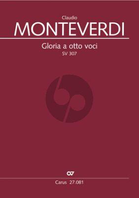 Monteverdi Gloria a otto Voci a-moll SV 307 SATB-SATB-Bc Partitur
