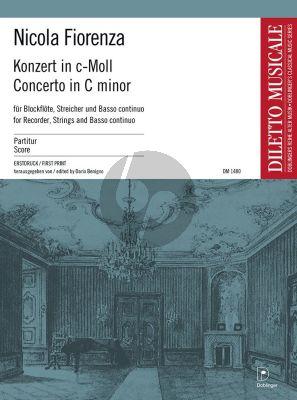 Fiorenza Konzert c-moll für Altblockflöte-Streicher-Basso cont.) Partitur