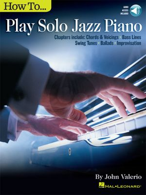 Valerio How to Play Solo Jazz Piano (Book with Audio online)