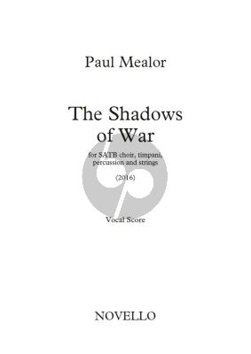 Mealor The Shadows of War SATB-Timpani-Percussion-Strings) Vocal Score