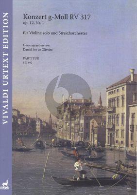 Vivaldi Konzert g-Moll RV 317 Op.12 No.1 Violine solo-Streichorchester Partitur
