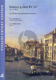 Vivaldi Konzert g-Moll RV 317 Op.12 No.1 Violine solo-Streichorchester KA