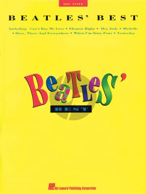 Beatles Best Big Note Piano