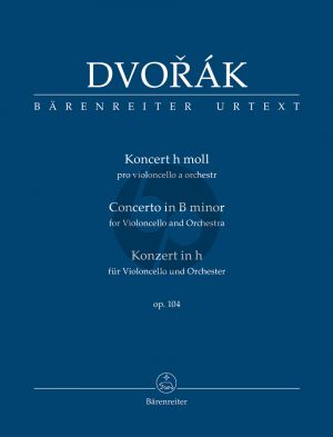 Dvorak Concerto B-minor Op.104 (Violonc.-Orch.) Study Score
