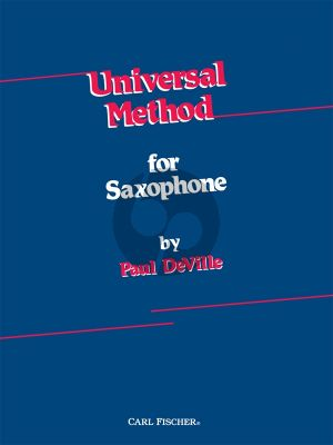 DeVille Universal Method for the Saxophone (spiral-bound)