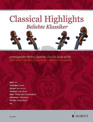 Classical Highlights for String Quartet