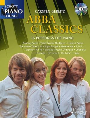 ABBA Classics (16 Popsongs For Piano) (Bk-Cd) (Gerlitz)
