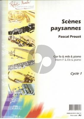 Proust  Scenes Paysannes Horn (Fa et Mib)-Piano