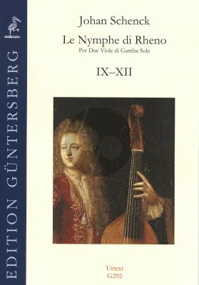 Schenck Le Nymphe di Rheno Op.8 (No.9-12) 2 Violas da Gamba