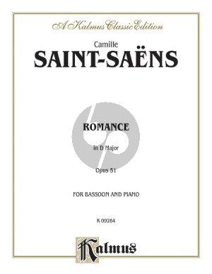 Saint-Saens Romance Op.51 Bassoon-Piano