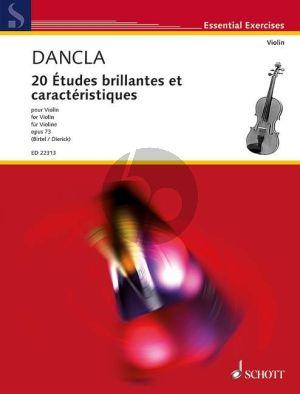 Dancla 20 Etudes brillantes et caractéristiques Op.73 Violin