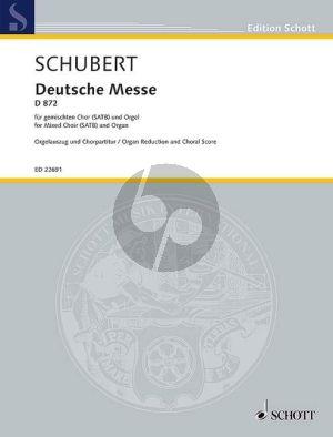 Schubert Deutsche Messe D.872 SATB-Orgel (ed. Felix Loy)