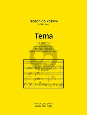 Rossini Tema Violine-Klavier Erstdruck (ed. Guido Johannes Joerg)