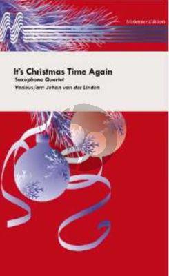van der LindenIt's Christmas Time Again Saxophone Quartet SATB