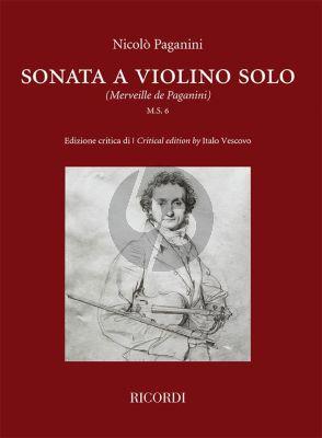 Paganini Sonata a violino solo (M.S. 6)