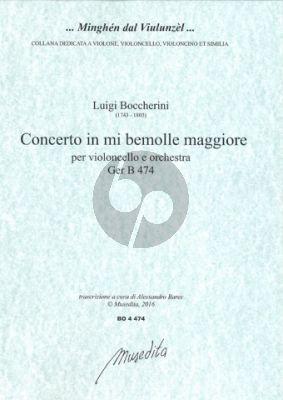 Boccherini Concerto E-flat major No.5 G.474 Violoncello-Orch. (piano red.) (Bares)