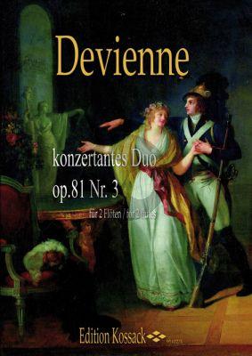 Devienne 3 Konzertante Duos Op.81 No.3 2 Flutes