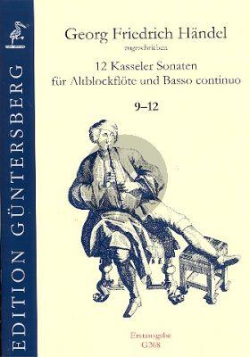 Handel 12 Kasseler Sonaten Vol.3 (No.9-12) Altblockflöte-Bc