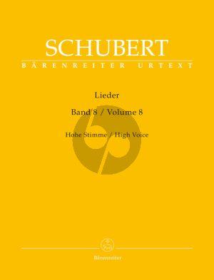 Schubert Lieder Vol.8 (High Voice) (edited by Walter Durr) (Barenreiter)