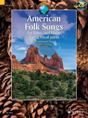 American Folk Songs (20 Traditional Pieces) 1-2 Voices-Piano (Bk-Cd)