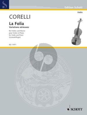 Corelli La Folia (Variations sérieuses) Violin-Piano (Leonard-Reger)