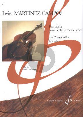 Martinez Campos Fantaisie pour la classe d'excellence 7 Violoncelles (Part./Parties)