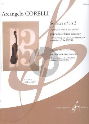 Corelli Sonates Op.5 Vol.1 (No.1-3) Viola-Bc (transcr. Anne Maireaux)