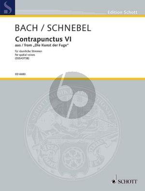 Bach Contrapunctus VI (aus Kunst der Fuge) für raumliche Stimmen) 5S-5A-5T-5B (Schnebel)