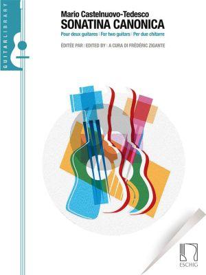 Castelnuovo-Tedesco Sonatina canonica Op.196 2 Guitars (Frederic Zigante)
