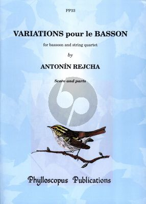 Reicha Variations Bassoon-String Quartet Score and Parts
