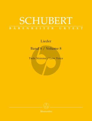 Schubert Lieder Vol.8 (Low Voice) (edited by Walter Durr)