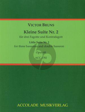 Bruns Kleine Suite No.2 Op.68 3 Fagotte-Kontrafagott (Partitur/Stimmen)