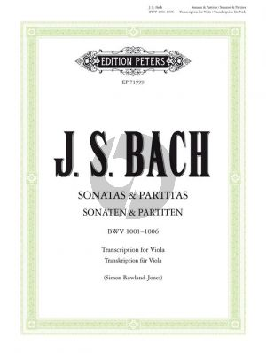Bach Sonatas & Partitas for Viola BWV 1001-1006 (orig. Violin) (edited by Simon Rowland Jones and David Ledbetter)